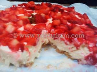 Cold Strawberry Cheese Cake