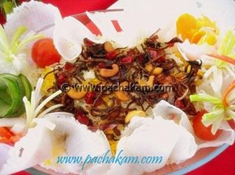 Papaya And Nuts Pulao