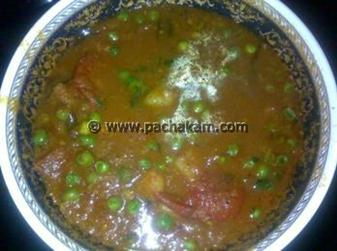 Naadan Green Peas Curry