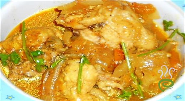 Easy chicken curry without oil