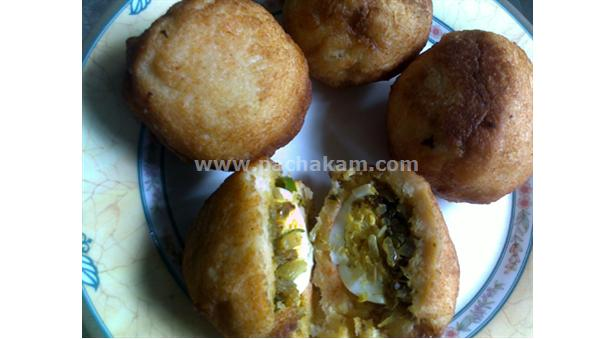 Bread unda with beef and egg filling