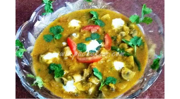 North Indian Easy Mushroom Curry