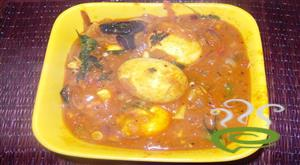 Easy tomato egg curry