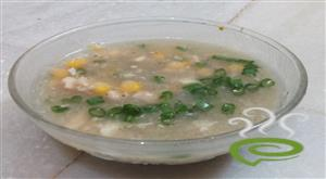 Home made sweet corn  chicken soup