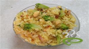 Broccoli Lemon Poha