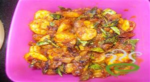 Kerala traditional  prawns fry