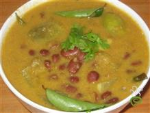 Rajma Brinjal Curry