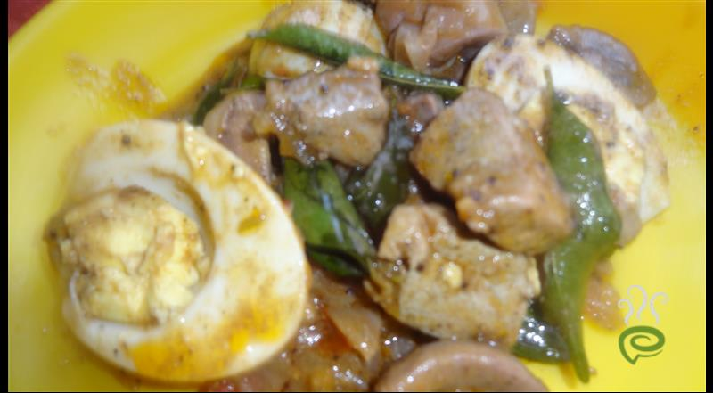 Liver Egg Pepper Curry