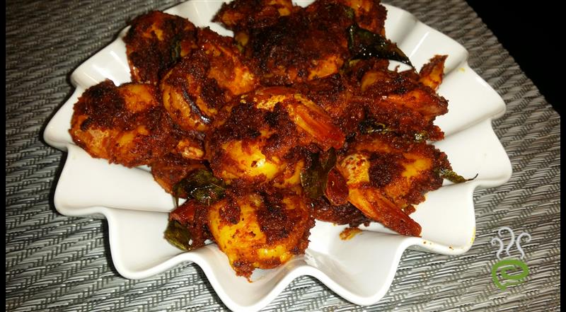 Andhra Prawns Fry Easy With Fresh Raw Ingredients | Pachakam