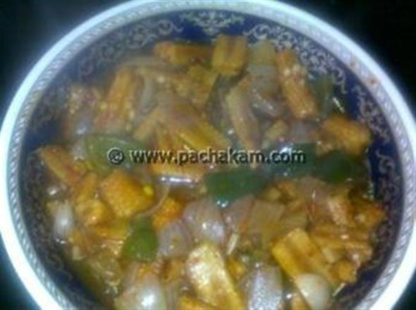 Baby Corn In Hot Chilly Paste
