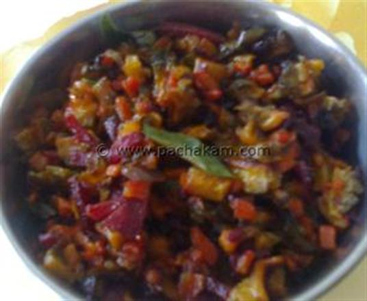 Bitter-Gourd  With Mixed Vegetable Fry | Pachakam