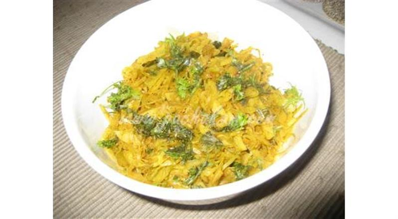 North Indian Cabbage Bhaji | Pachakam