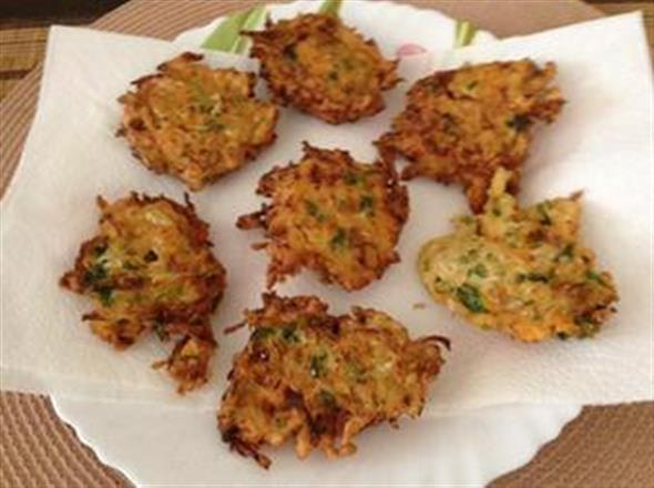 Cabbage And Carrot Fritters