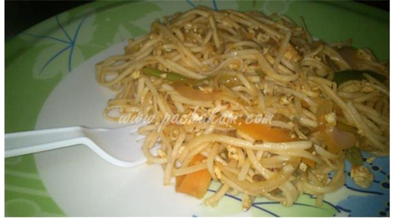 Chicken Noodles (Step By Step Photos)