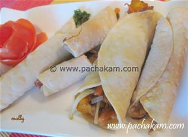 Chicken Poppadom Rolls