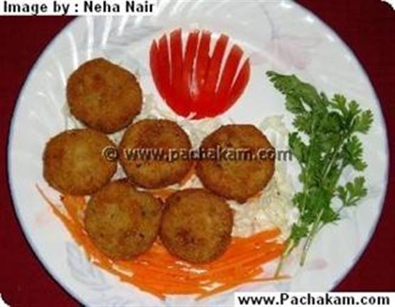 Chickpeas With Potato Cutlets