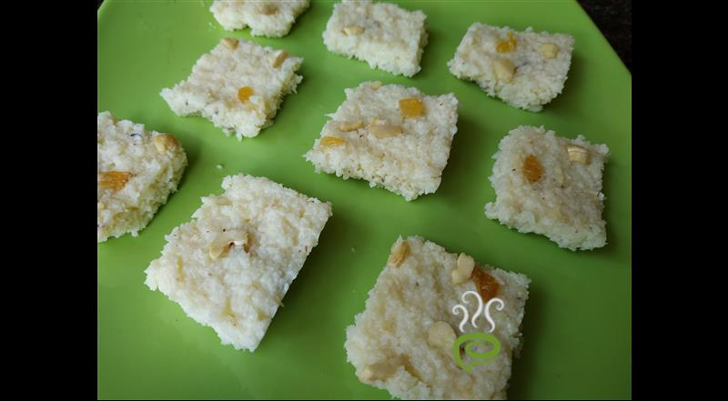 Coconut Burfi Recipe With Milk Powder. | Pachakam