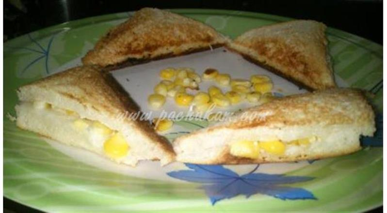 Corn Mayonnaise Sandwich  (Step By Step Photos) | Pachakam