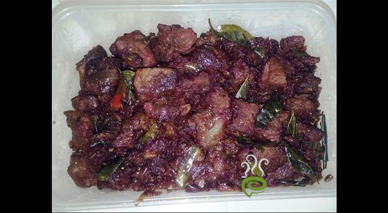 Dry Beef With Crushed Red Chillies