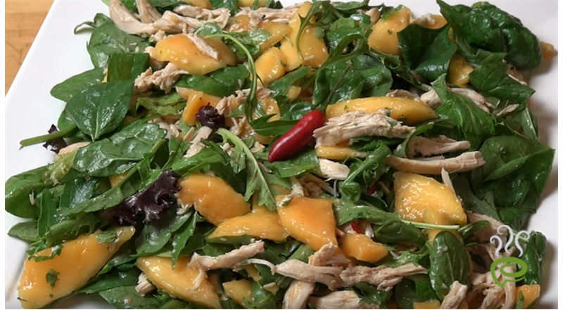 Mango & Chicken Salad Video Recipe | Pachakam