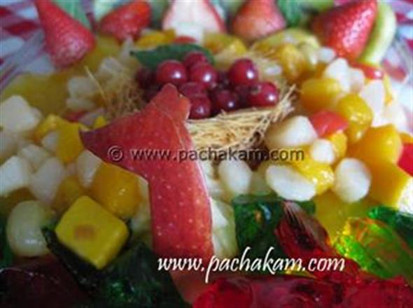 Mango Pudding - Medley Of Fresh Fruits