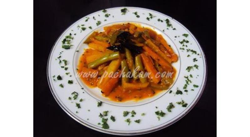 Mixed Vegetable With Tomato And Butter
