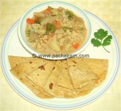 North Indian  Vegetable Kurma