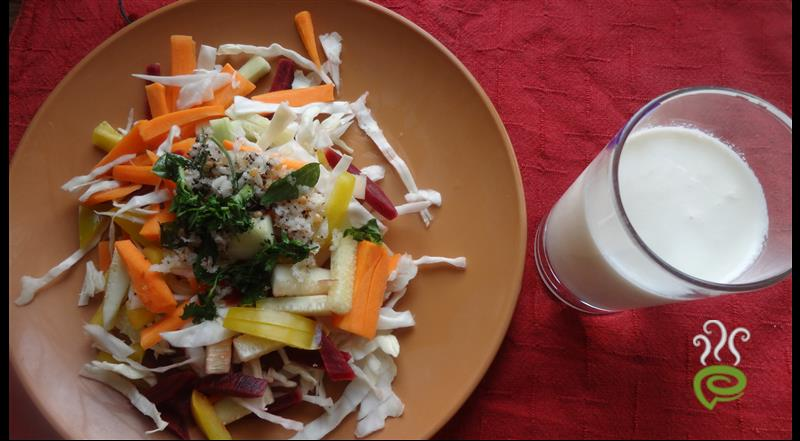 Veg Salad With Lassi