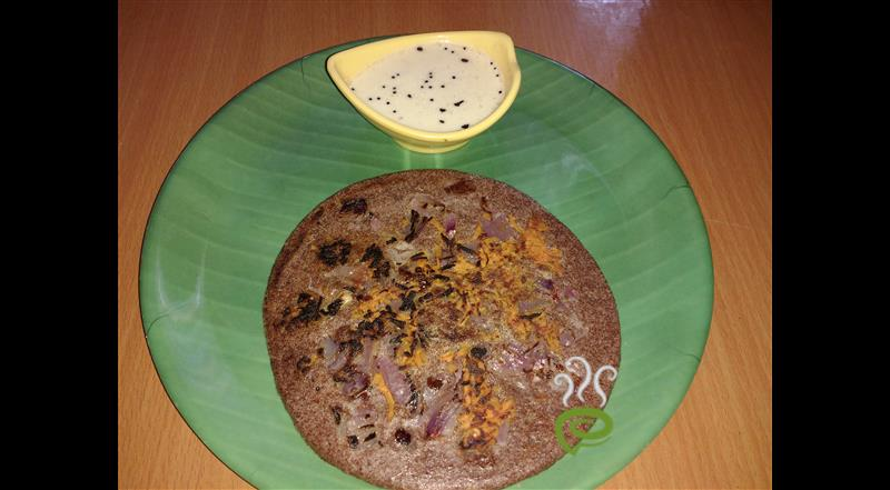 Ragi Carrot Onion Uttappam