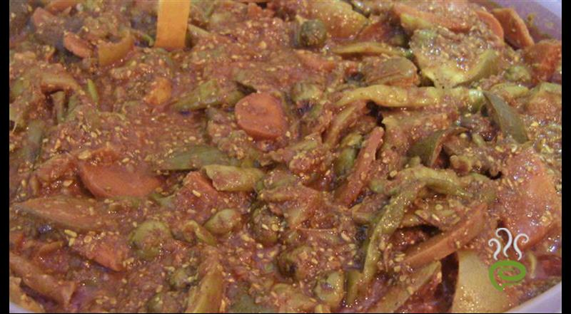 Mixed Vegetable Pickle : Kari Kai Oorugai