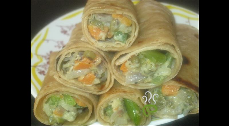 Vegetables Cheesy Wrap | Pachakam