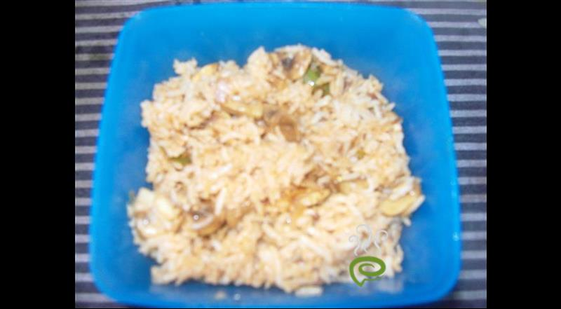 Quick Restaurent Style Mushroom Fried Rice