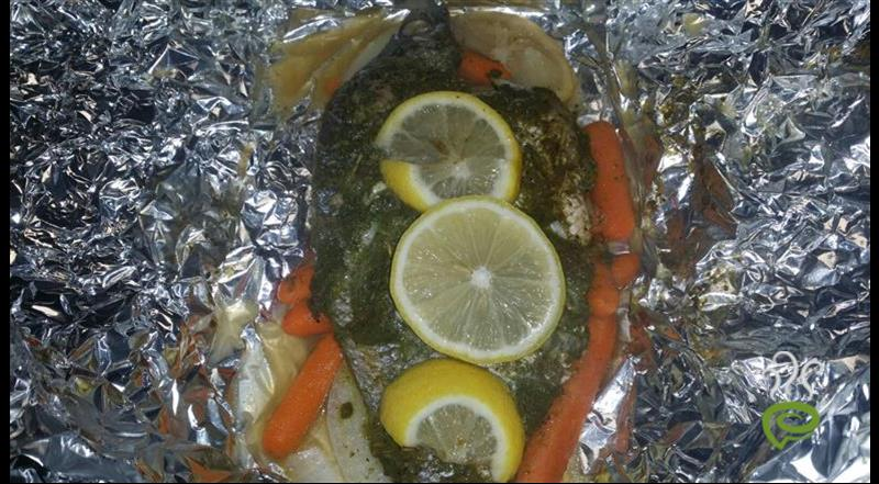 Fish Grilled In Foil