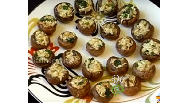 Stuffed Mushrooms With Paneer Video Recipe