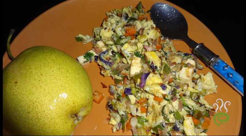 Vegetable Egg Scramble With Pears
