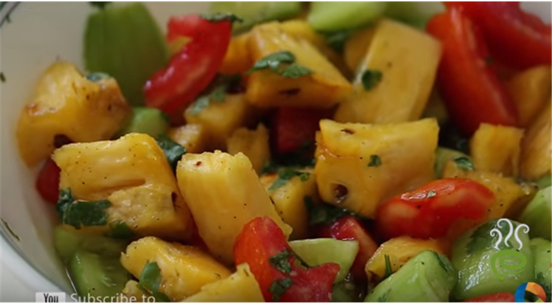 Pineapple & Cucumber Salad Video Recipe | Pachakam