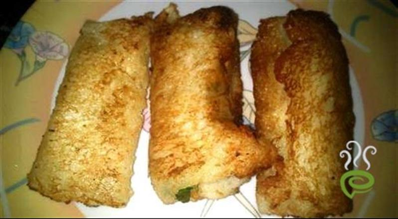 Popular North Indian Paneer Bread Roll
