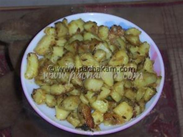 Potato Fry With Raw Spices | Pachakam
