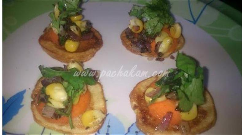 Potato Chips With Corn Dressing (Step By Step Phot | Pachakam