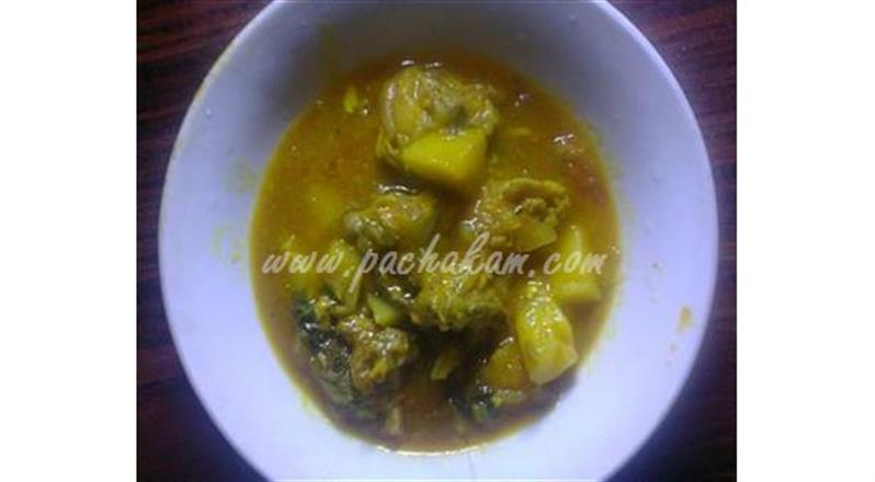 Potato With Chicken Curry | Pachakam