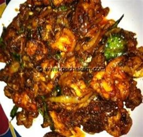 Prawns With Tomato N Onions