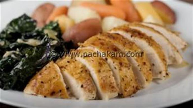 Roast Breast Of Chicken With Roasted Root Veggies