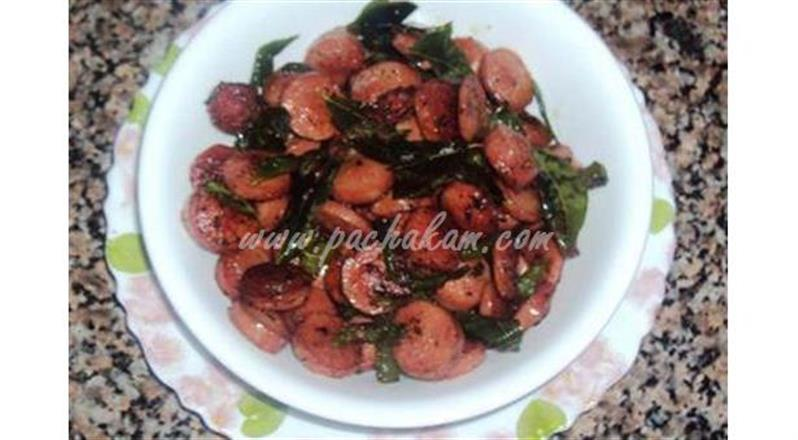 Sausage Chilly Pepper Fry