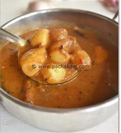 Spicy Chettinad Garlic(Poondu) Kuzhambu