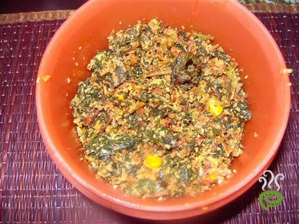 Spinach Corn Thoran