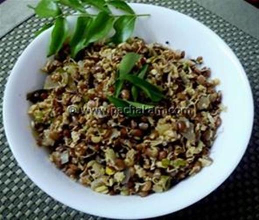 Sprouted Horsegram(Muthira) Thoran | Pachakam