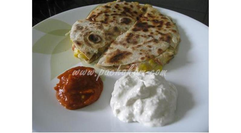 Sweet Corn & Cheese Quesadillas (Step By Step Phot | Pachakam