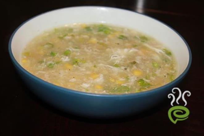 Sweet Corn With Prawn Soup