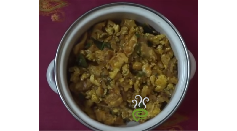 Vegetable Masala Egg Scramble Video Recipe | Pachakam