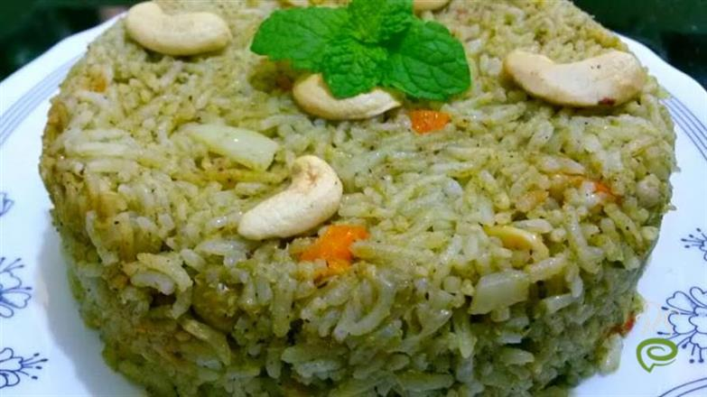 Chutney Pulao - Colorful
